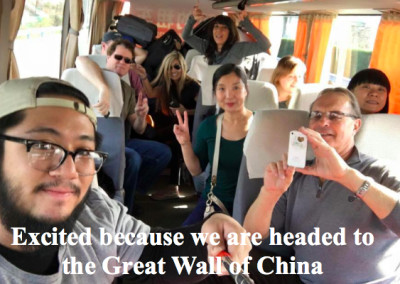 Bus ride to the Great Wall