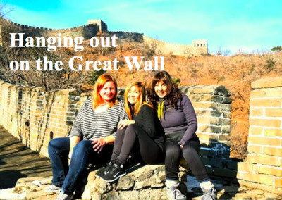Hanging out on the Great Wall