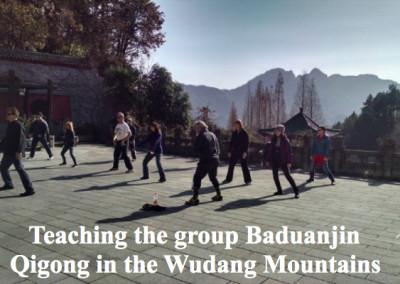Leading Baduanjin in Wudang