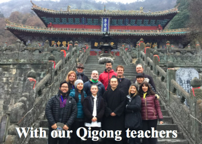 With our Qigong Teachers