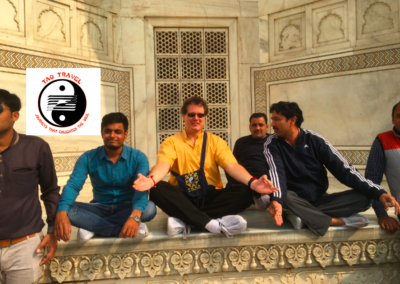 Terry Hodgkinson teaches meditation at the Taj Mahal