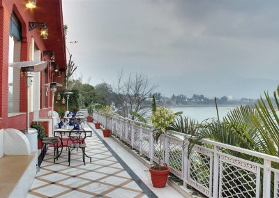 Our balcony that over looks the sacred Ganges River in Rishikesh