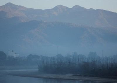The Foothills of the Himalaya Mountains in Rishikesh
